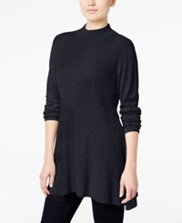 Styleandco. Style Co. Mock Turtleneck Ribbed Sweater Only At Macy's Dark Grape