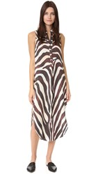 Mara Hoffman Zebra Shirtdress Cream Multi
