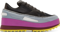 Raf Simons Black Adidas Edition Platform Lace Sneakers