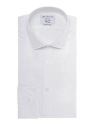 T.M.Lewin Poplin Plain Fully Fitted Formal Shirt White