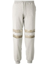 Luxury Fashion Pvc Panel Track Pants Grey