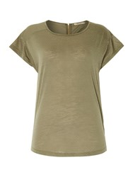 Red Soul Spotted Casual T Shirt Green