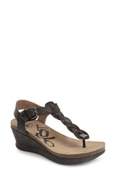 Otbt Women's 'Graceville' Platform Wedge Sandal Black Leather