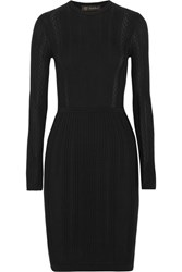 Versace Ribbed Knit Dress Black
