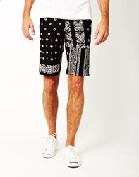 Huf Bandana Patchword Shorts Black