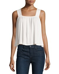 Bcbgeneration Sleeveless Knit Crop Top Whisper White
