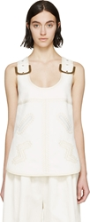 Stella Mccartney Cream Buckle And Embroidery Top