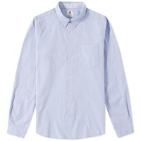 Paul Smith Button Down Tailored Fit Chambray Shirt Blue