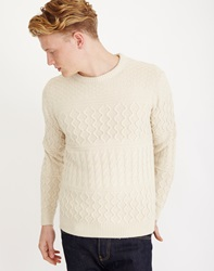 The Idle Man Cable Knit Jumper Tan