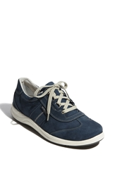 Mephisto 'Laser' Walking Shoe Women Navy Nubuck