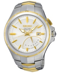 Seiko Men's Automatic Coutura Kinetic Retrograde Two Tone Stainless Steel Bracelet Watch 43Mm Srn064