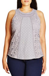 City Chic Plus Size Women's 'Vintage Lace' Tank