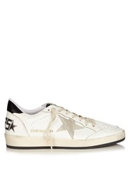 Golden Goose Ball Star Low Top Leather Trainers White Black