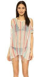 L Space Nightfall Beach Cover Up Natural