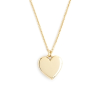 J.Crew 14K Gold Heart Charm Necklace With 18 1 2' Chain