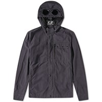 C.P. Company Garment Dyed Goggle Overshirt Blue
