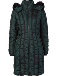 Zac Posen 'Carla' Padded Coat Green