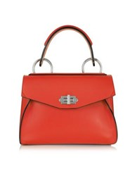 Proenza Schouler Small Hava True Red Smooth Leather Top Handle Bag