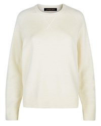 Jaeger Wool Crew Neck Sweater White