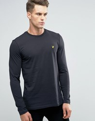 Lyle And Scott Long Sleeve Top Eagle Logo In Black Black