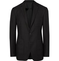Burberry London Black Slim Fit Mohair And Wool Blend Hopsack Blazer Black