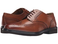 Florsheim Hamilton Wingtip Oxford Cognac Smooth Men's Lace Up Wing Tip Shoes Neutral