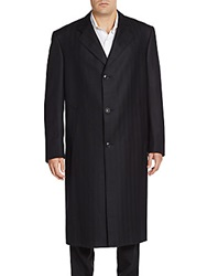 Hickey Freeman Navy Chesterfield Coat