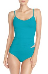 Nordstrom Women's Lingerie Two Way Seamless Camisole Teal Ocean