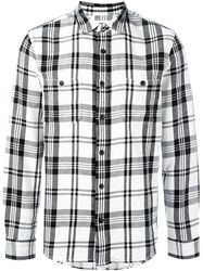 Edwin Plaid Button Down Shirt White