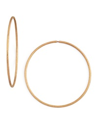 Carolina Bucci Mirador Large 18K Pink Gold Sparkly Hoop Earrings Pink