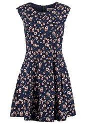 Louche Sharna Summer Dress Navy Dark Blue