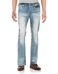 Buffalo David Bitton King Bootcut Jeans Blue Heavy Sandblast