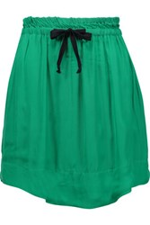 Etoile Isabel Marant Brick Voile Mini Skirt Emerald