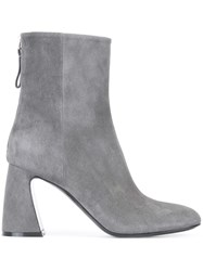 Premiata Chunky Heel Ankle Boots Grey