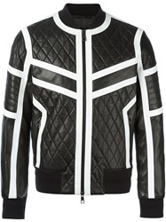 Neil Barrett Quilted Leather Jacket Black