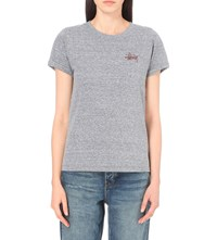 Stussy Print Jersey T Shirt Grey Heather