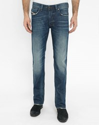 Diesel Faded Light Blue Larkee Beex Tapered Loose Regular Jeans