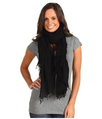 Chan Luu Cashmere And Silk Scarf Black Scarves
