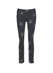 Stella Mccartney Star Print Skinny Boyfriend Jeans Black