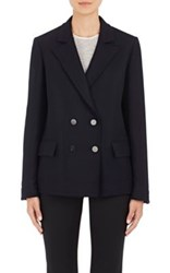 Helmut Lang Women's Peak Lapel Wool Blazer Navy