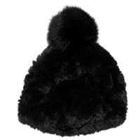 Glamourpuss Nyc Pom Pom Hat Jet Black