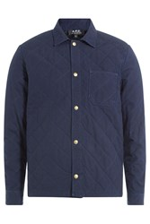 A.P.C. Quilted Cotton Shirt Jacket Blue