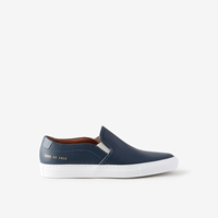 Common Projects Perforated Leather Slip On Sneaker Navy