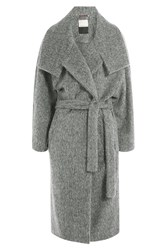 By Malene Birger Alpaca Wool Belted Coat Grey