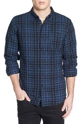 Men's Ezekiel 'Hinder' Regular Fit Jacquard Plaid Woven Shirt