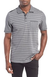 Men's Hurley 'Fairview' Dri Fit Polo Charcoal Heather