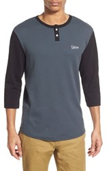 Men's Volcom 'Duster' Three Quarter Sleeve Thermal Henley Greyputty