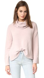 Bb Dakota Marcilly Cowl Neck Cropped Sweater Champagne
