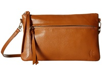 Mighty Purse Luxe Charging Crossbody Brown Cow Leather Cross Body Handbags