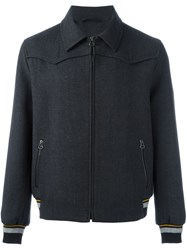 Lanvin Classic Collar Bomber Jacket Grey